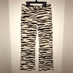 Mini Boden animal print pants/jeans